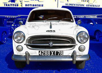 Peugeot 403 in grafiet van aRi F. Huber