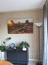 Kundenfoto: Sonnenaufgang Monument Valley von Edwin Mooijaart, auf leinwand