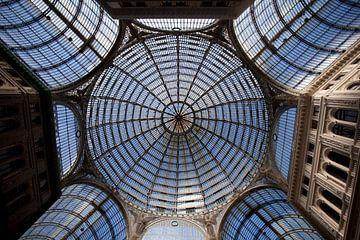 Dak van galleria Umberto, Napels van Kees van Dun