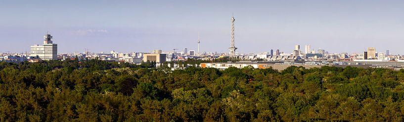 Panorama skyline Berlijn van Frank Herrmann