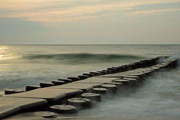 Buhne in der Ostsee bei Ahrenshoop von Katrin May