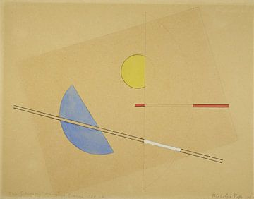 Bauhaus, kleine compositie - László Moholy-Nagy, 1923 van Atelier Liesjes