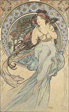 La Musique - Alphonse Mucha