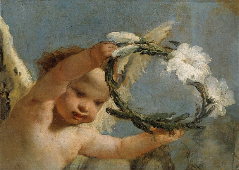 Engel mit Lilienkrone von Marieke de Koning