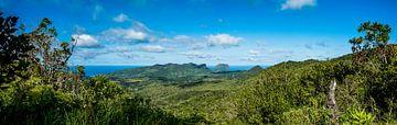 Panorama kust Chamarel, Mauritius van Danny Leij