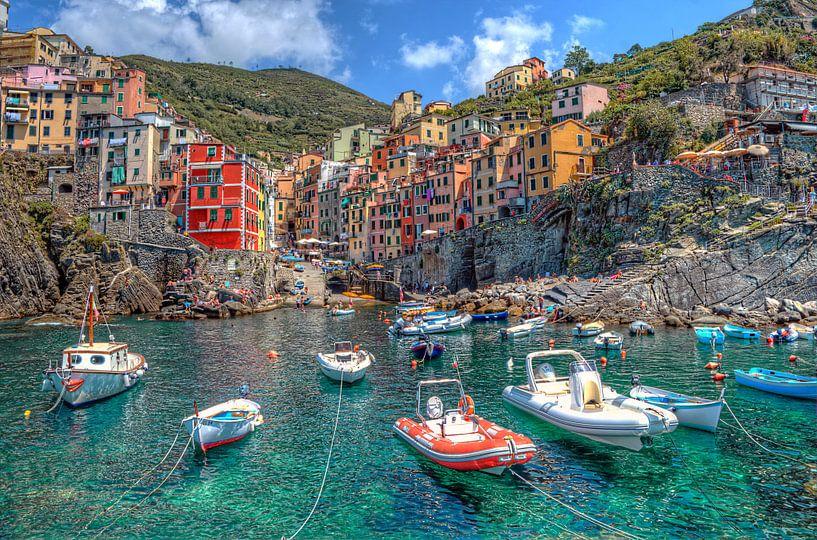 Riomaggoire, Cinque Terre, Italie van Rens Marskamp