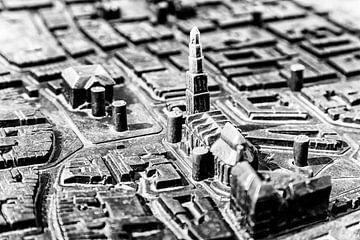 Braille map en maquette van het centrum van Groningen van Evert Jan Luchies