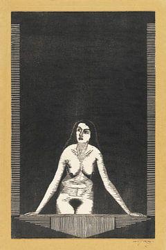 Vrouwelijk naakt bij venster, Samuel Jessurun de Mesquita (1920) van Atelier Liesjes