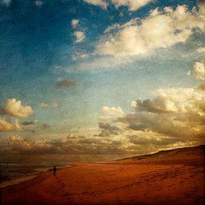 Strandwandeling in de ochtend van Dirk Wüstenhagen