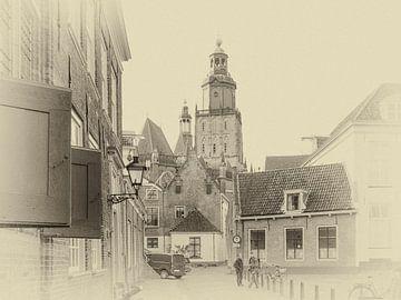Straatbeeld van het oude centrum van Zutphen. van Ron Poot