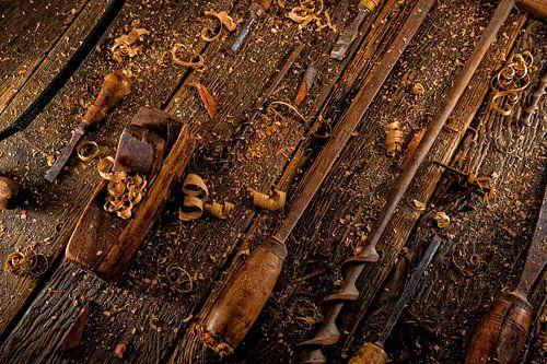 Vintage gereedschap voor houtbewerking