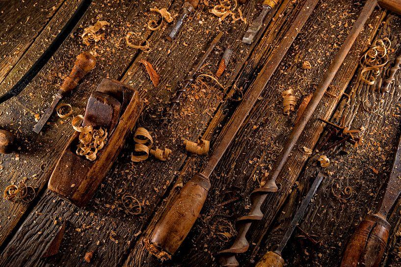 Weinlesewerkzeuge für die Holzbearbeitung von Jan van Broekhoven