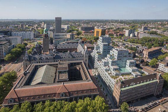 Het Stadhuis, Oude Postkantoor en Timmerhuis in Rotterdam van MS Fotografie