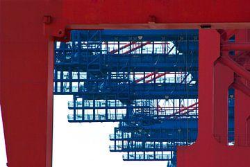 Containerkranen (close-up) van Norbert Sülzner