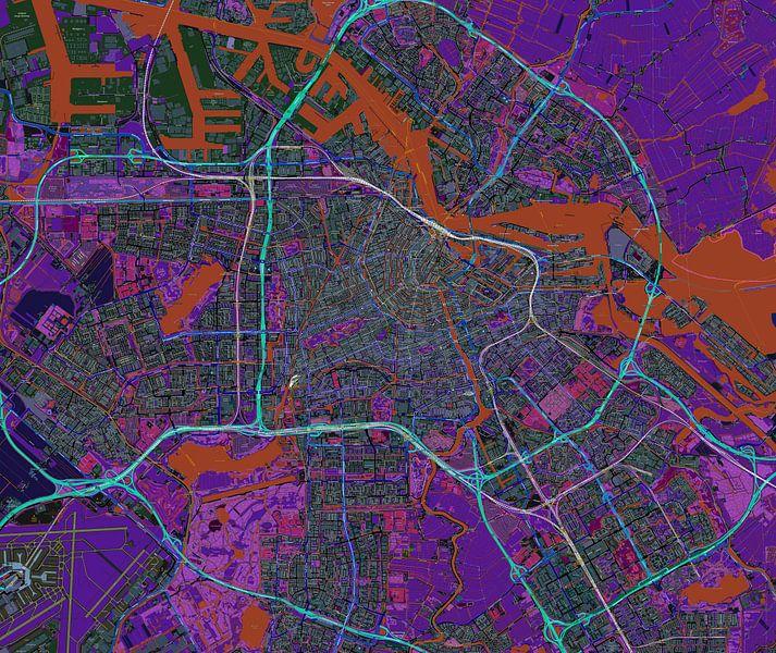 Amsterdam. Karte von Atelier Liesjes