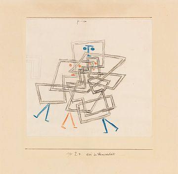 Drie in verwarring, Paul Klee, 1930 van Atelier Liesjes