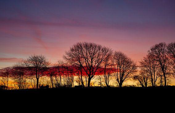 Kleurrijke zonsopkomst.