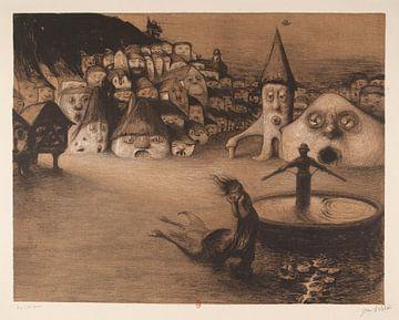 Die Häuser sind Gesichter, Jean veber - 1899 von Atelier Liesjes