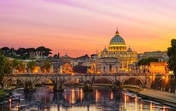 Rom, Vatikan und Engelsbrücke von Teun Ruijters