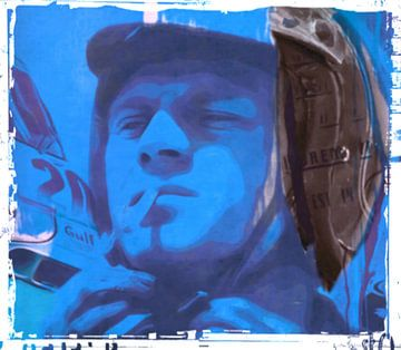 Motiv Steve Porträt Mc Queen - Frame 01 van Felix von Altersheim