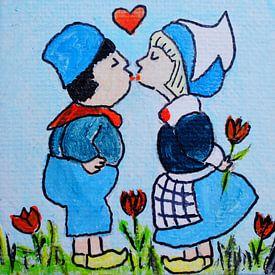 Dutch couple Kissing van Angelique van 't Riet