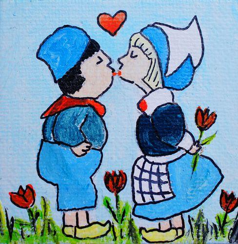 Dutch couple Kissing