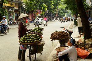 Typisch Vietnamees straatbeeld