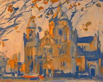 Église Saint-Lambert d'automne Maastricht sur Nop Briex