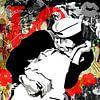 """Famous Love Couples - """"V-J Day in Times Square"""" van Jole Art (Annejole Jacobs - de Jongh) thumbnail"""