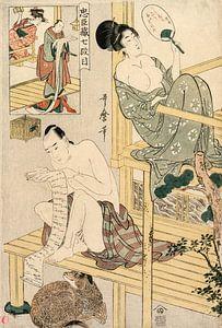 Kitagawa Utamaro. Akt VII aus der Serie Das Lagerhaus der treuen Gefolgsleute