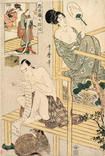 Kitagawa Utamaro. Akt VII aus der Serie Das Lagerhaus der treuen Gefolgsleute von 1000 Schilderijen
