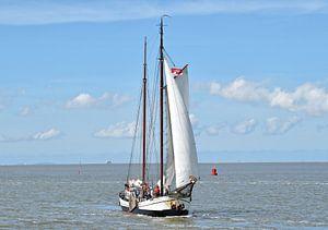 Le navire de la flotte brune Tijdgeest sur Piet Kooistra