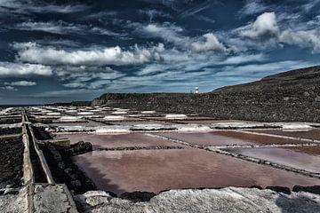 Salinen auf La Palma von Angelika Stern