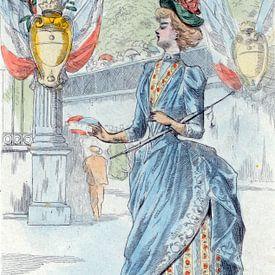 Mode 1878, Mode in het negentiende-eeuwse Parijs, Henri Boutet, (1851 1919), van Liszt Collection
