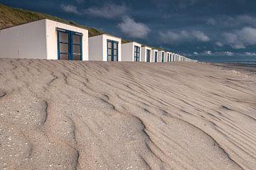 Zand structuur Strandhuisjes Paal 15