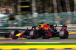 Max Verstappen in the Grand Prix of Belgium 2019 van
