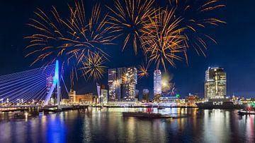 Vuurwerk in Rotterdam 2 van Prachtig Rotterdam