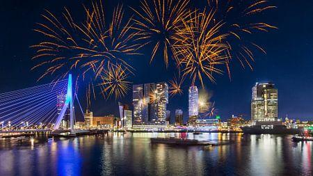 Vuurwerk in Rotterdam 2 von Prachtig Rotterdam