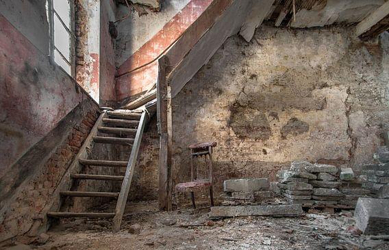 Oude trap Fotobehang