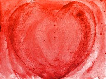 Herz rot van Katrin Behr