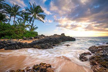 LPH 71302230 Zonsondergang in Makena Beach, Hawaii van BeeldigBeeld Food & Lifestyle