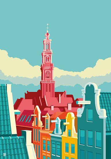 Amsterdam Westerkerk van Remko Heemskerk