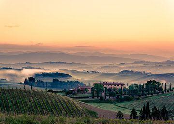 Ochtendgloren in Toscane van