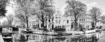 Nummer 101 Panorama 2 Egelantiersgracht Zwart / Wit sur Hendrik-Jan Kornelis