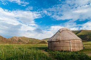 Joert in de bergen in Kirgizië