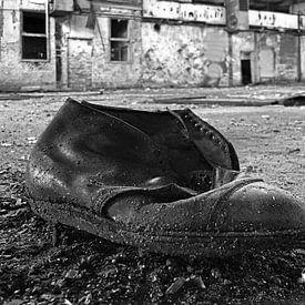 Oude vergeten schoen van Frank Herrmann