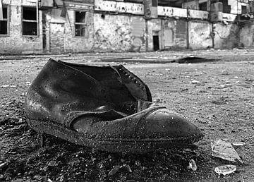 Oude vergeten schoen