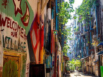 Wie heeft de mooiste lege straat? van Rik Pijnenburg