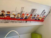 Kundenfoto: Lunch atop a skyscraper Lego edition - Rotterdam von Marco van den Arend, auf nahtloser fototapete