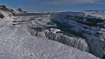 Gullfoss in de winter van Timon Schneider